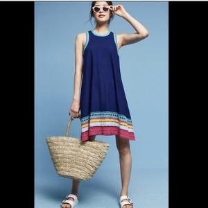 Akemi & Kin turk Multi Crochet Shift SwingDress XS